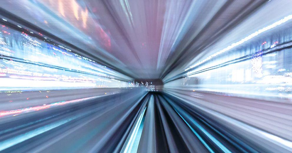 Train blur Tokyo